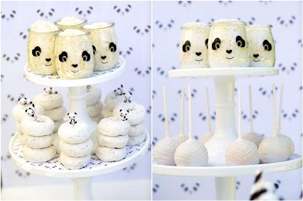 Party Like a Panda Birthday Party desserts via Pretty My Party