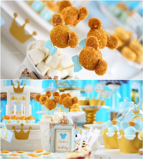Royal Mickey Birthday Party cake pops | Pretty My Party