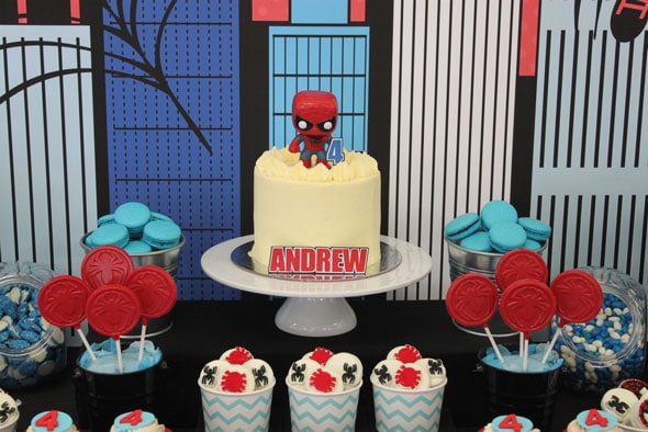Spiderman Birthday Party Cake | Pretty My Party