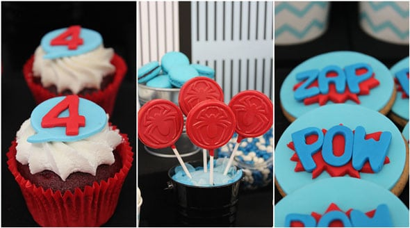 Spiderman Birthday Party Desserts | Pretty My Party