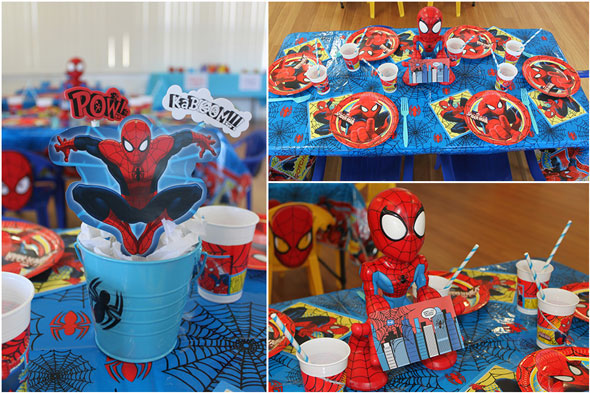 Spiderman Birthday Party Table Setting | Pretty My Party