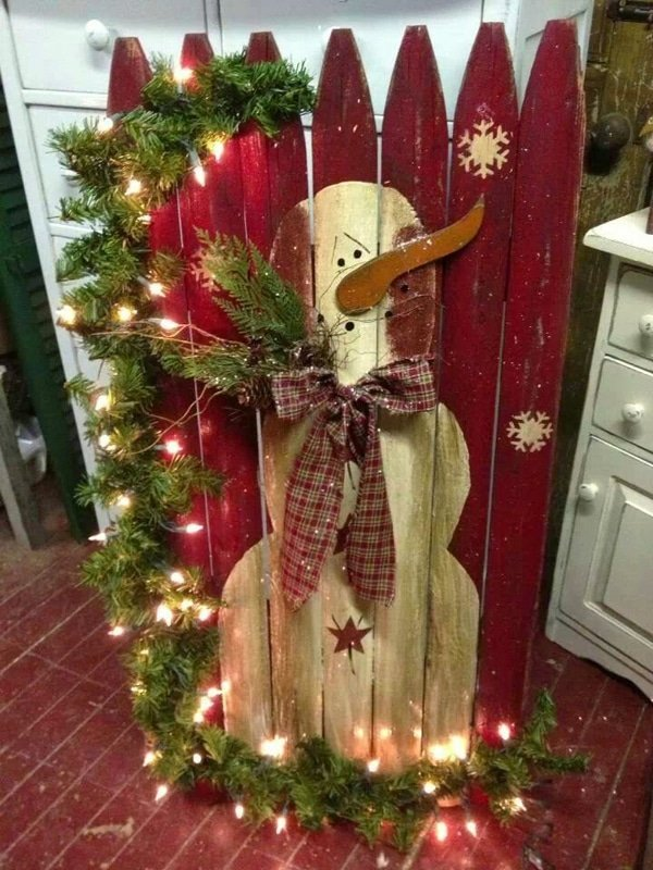 DIY Wood Snowman Decoration