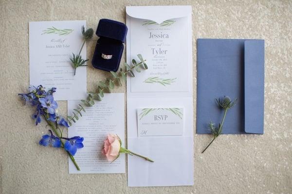 Rustic Glam Wedding Invitation via Pretty My Party