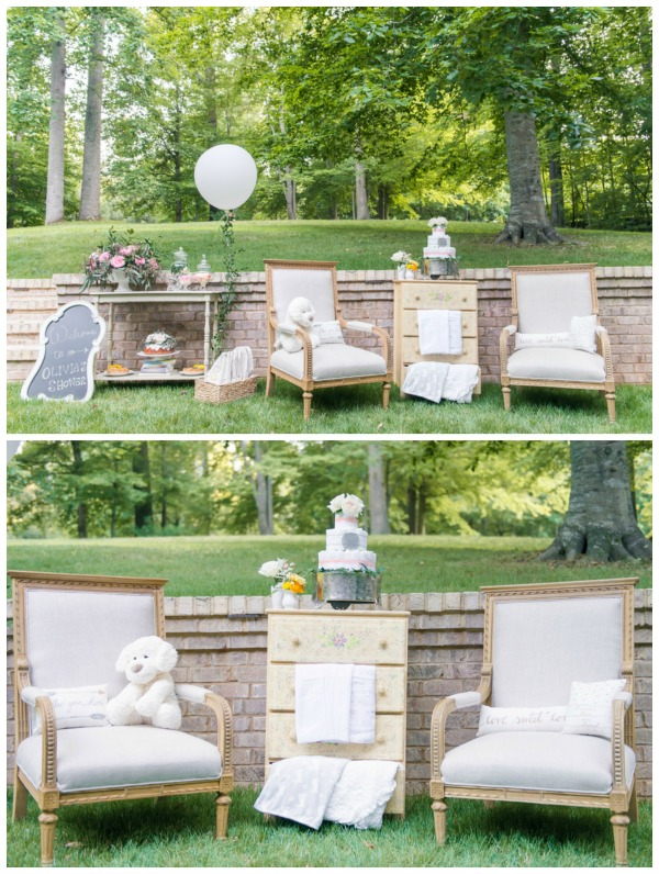 Whimsical Outdoor Baby Shower Decor Via Pretty My Party ...