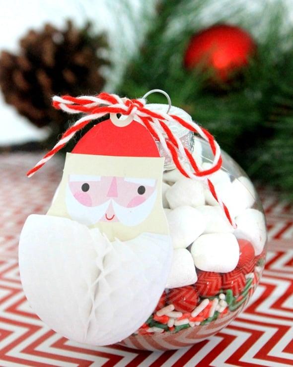 DIY Santa Hot Chocolate DIY Christmas Ornaments - Pretty My Party