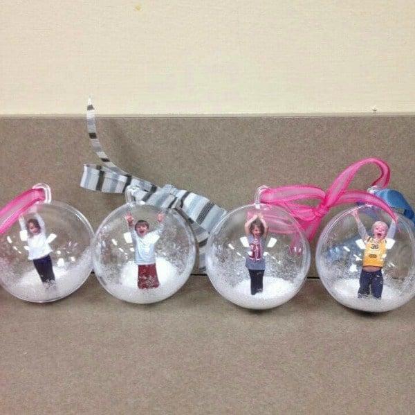 Photo Snow Globe DIY Christmas Ornaments