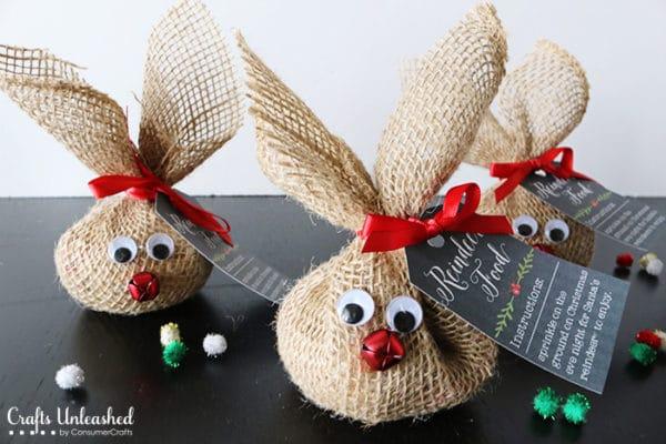 DIY Reindeer Food Burlap Snack