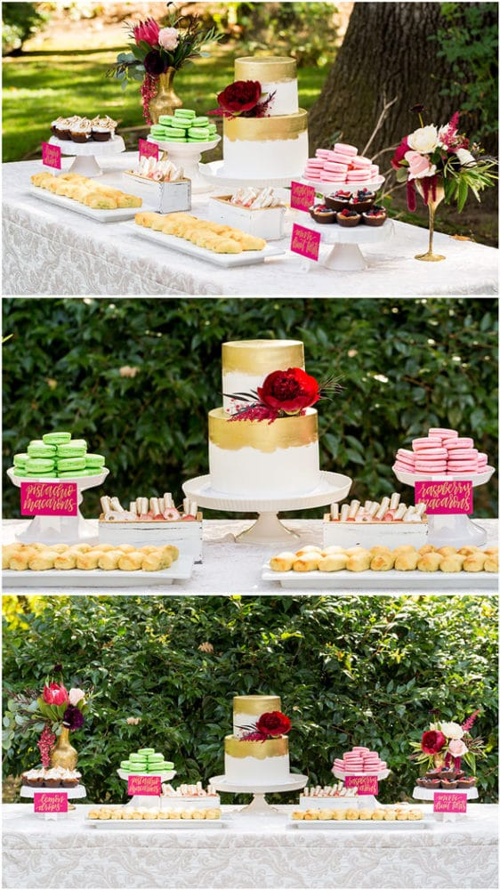 Pomegranate Inspired 60th Birthday in Wine Country