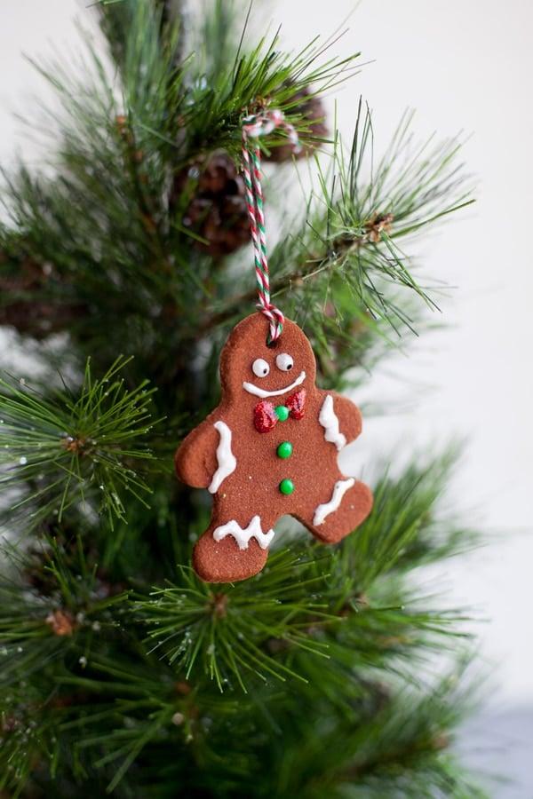 Easy Cinnamon Dough Gingerbread Christmas Ornament
