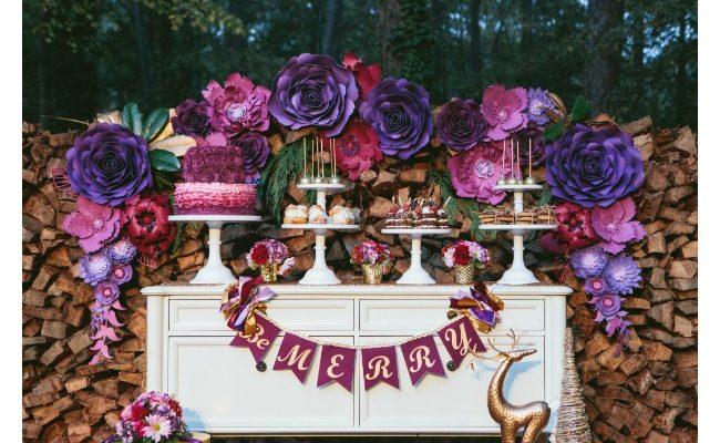 Floral Winter Wonderland Party