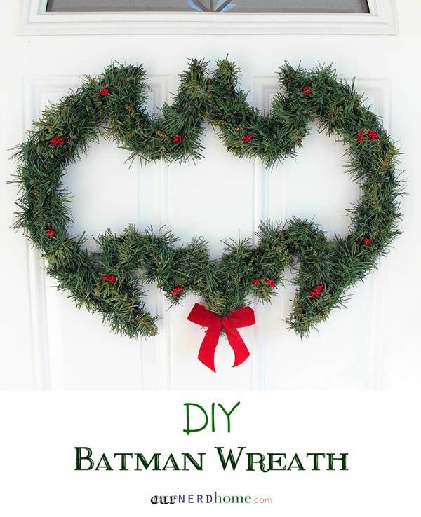 DIY Batman Wreath
