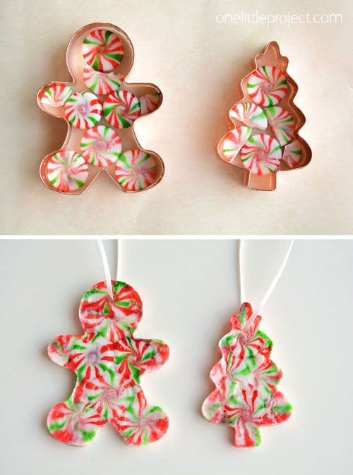 Peppermint Candy DIY Christmas Ornaments