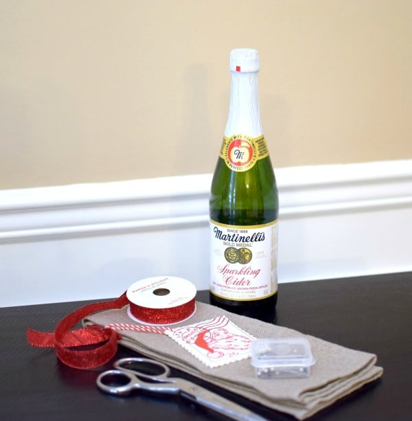 No Sew Sparkling Cider Hostess Gift Wrap | Pretty My Party