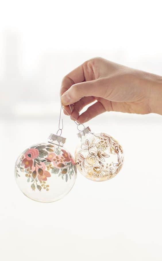Temporary Tattoo DIY Christmas Ornaments