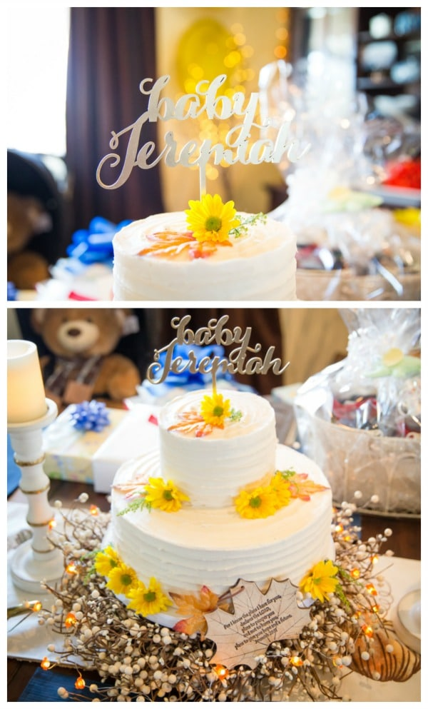 Fall Themed Baby Shower Cake | Pretty My Party