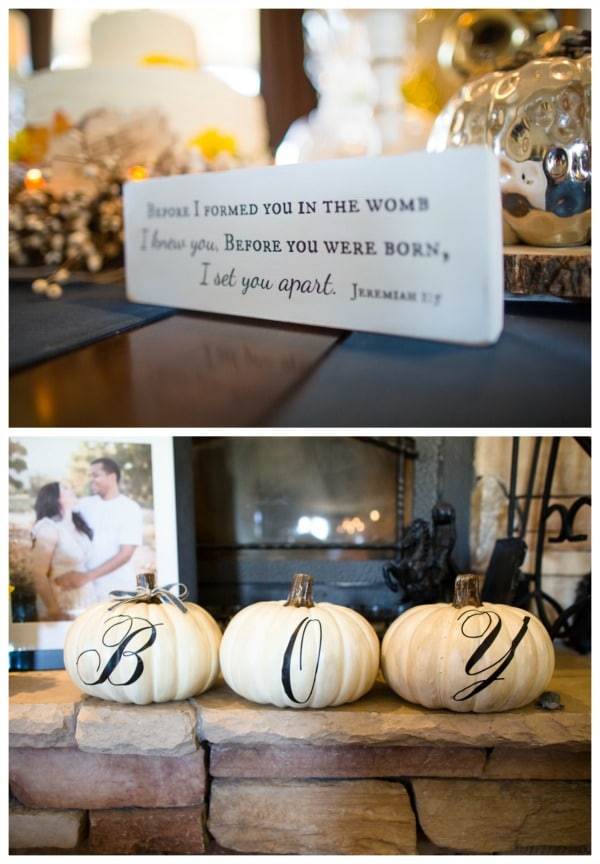 Fall Themed Baby Shower Pumpkins | Pretty My Party