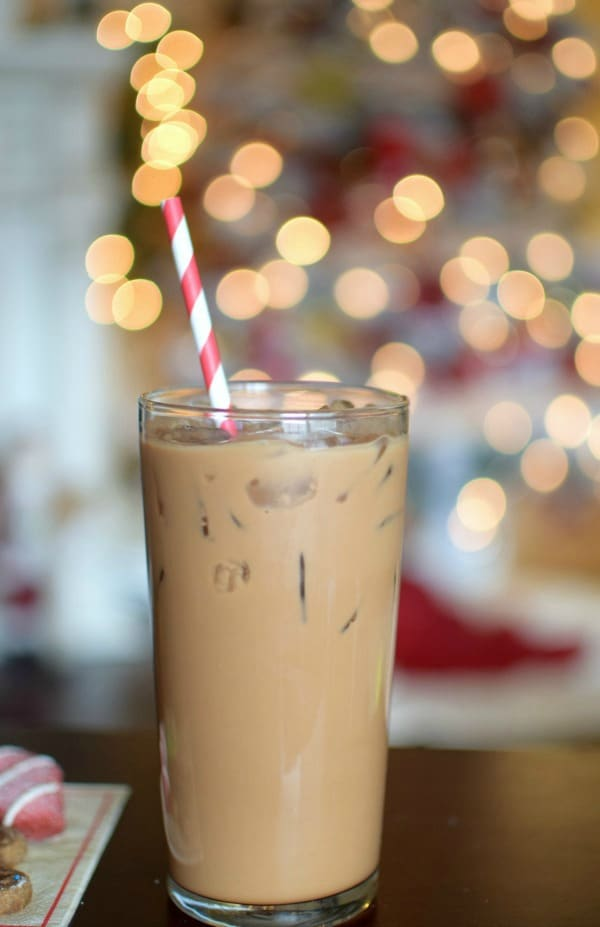 Holiday Iced Peppermint Mocha Coffee Recipe Pretty My Party
