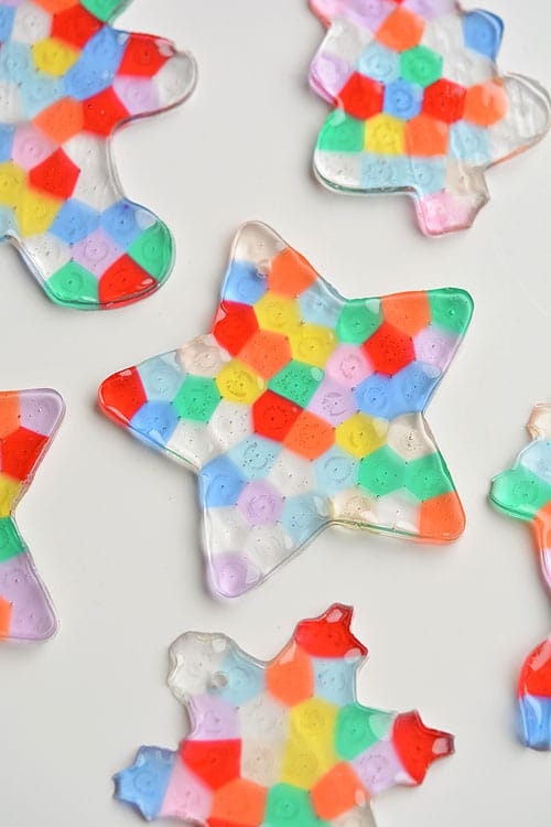 Melted Bead DIY Christmas Ornaments