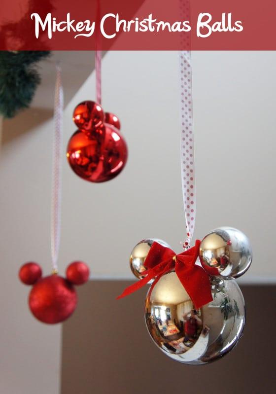 DIY Mickey Christmas Ornaments