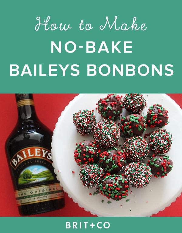 No Bake Boozy Baileys Bon Bons