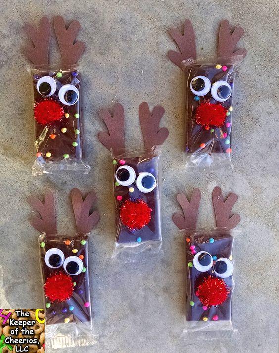 Rudolph Brownie Snacks