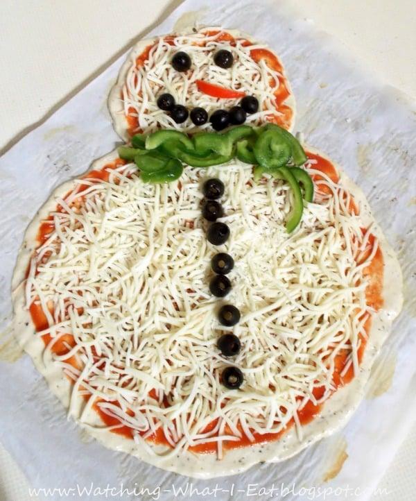 Snowman Pizza