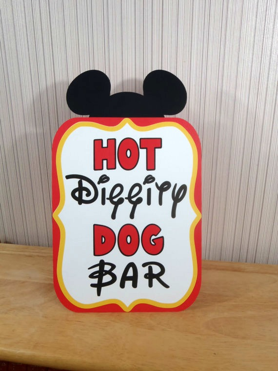 picture relating to Hot Diggity Dog Bar Free Printable titled 40+ Mickey Mouse Celebration Suggestions - Mickeys Clubhouse - Fairly