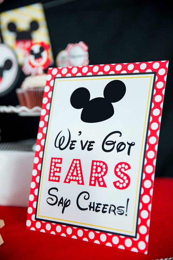 Mickey Mouse Ears Sign