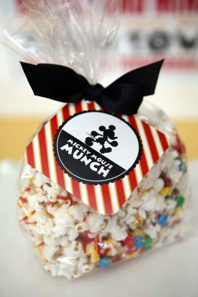 Mickey Mouse Munch Party Favors