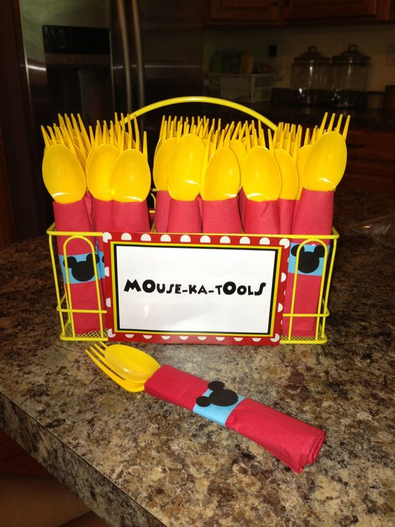 Mickey Mouse Party Utensils, Mouse-ka-Tools