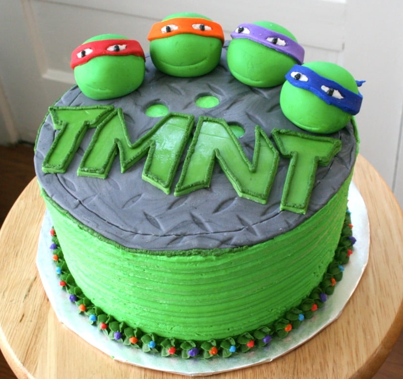Superb 30 Teenage Mutant Ninja Turtle Party Ideas Pretty My Party Funny Birthday Cards Online Alyptdamsfinfo