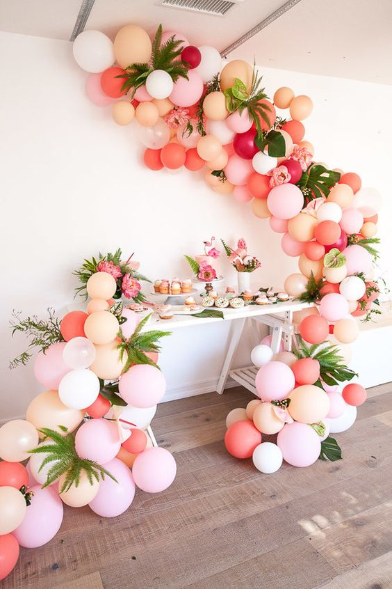 16 Balloon Garland Party Ideas  Pretty My Party