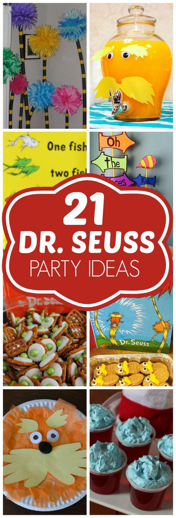 21 Diy Dr Seuss Party Ideas Dr Seuss Birthday Pretty