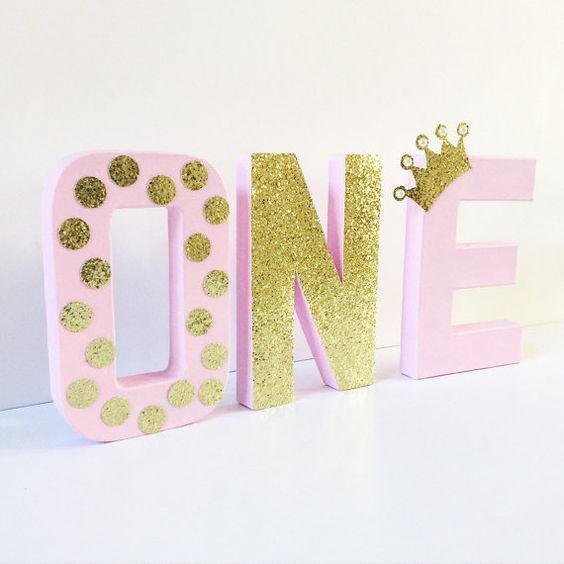 21 pink and gold first birthday party ideas pretty my party for Number 1 decorations