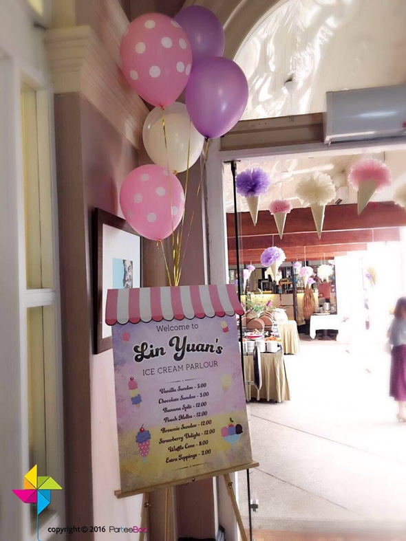 Ice Cream Parlor First Birthday Party | Pretty My Party