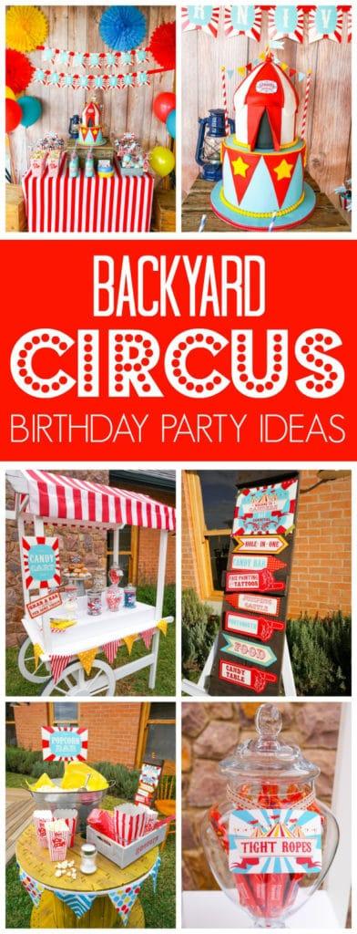 Backyard Circus Party