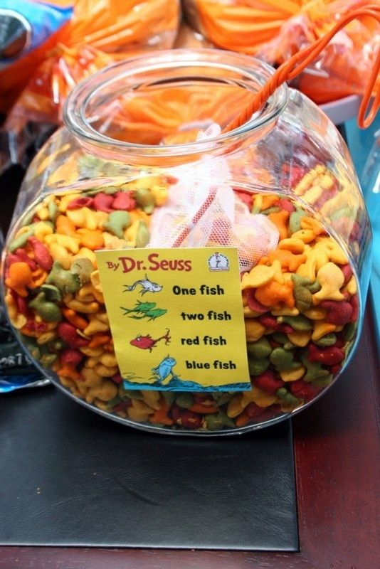 Dr. Seuss One Fish Two Fish Snack Idea | Pretty My Party
