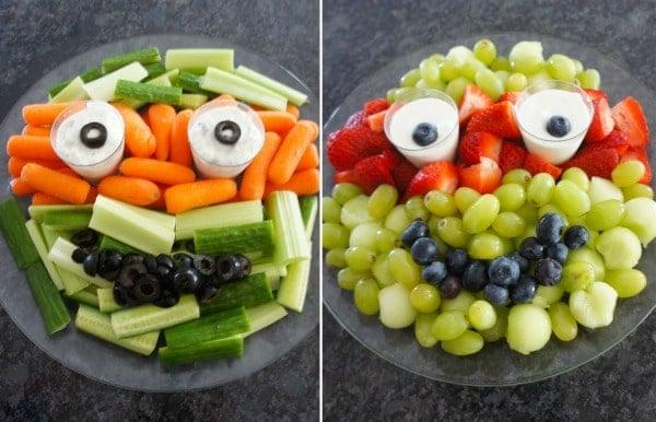Ninja Turtle Veggie and Fruit Trays