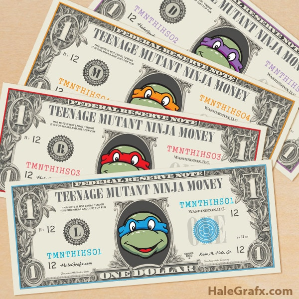 Free Printable Ninja Turtle Money