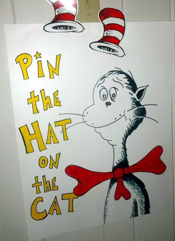 Dr. Seuss Pin the Hat on the Cat Game Idea | Pretty My Party