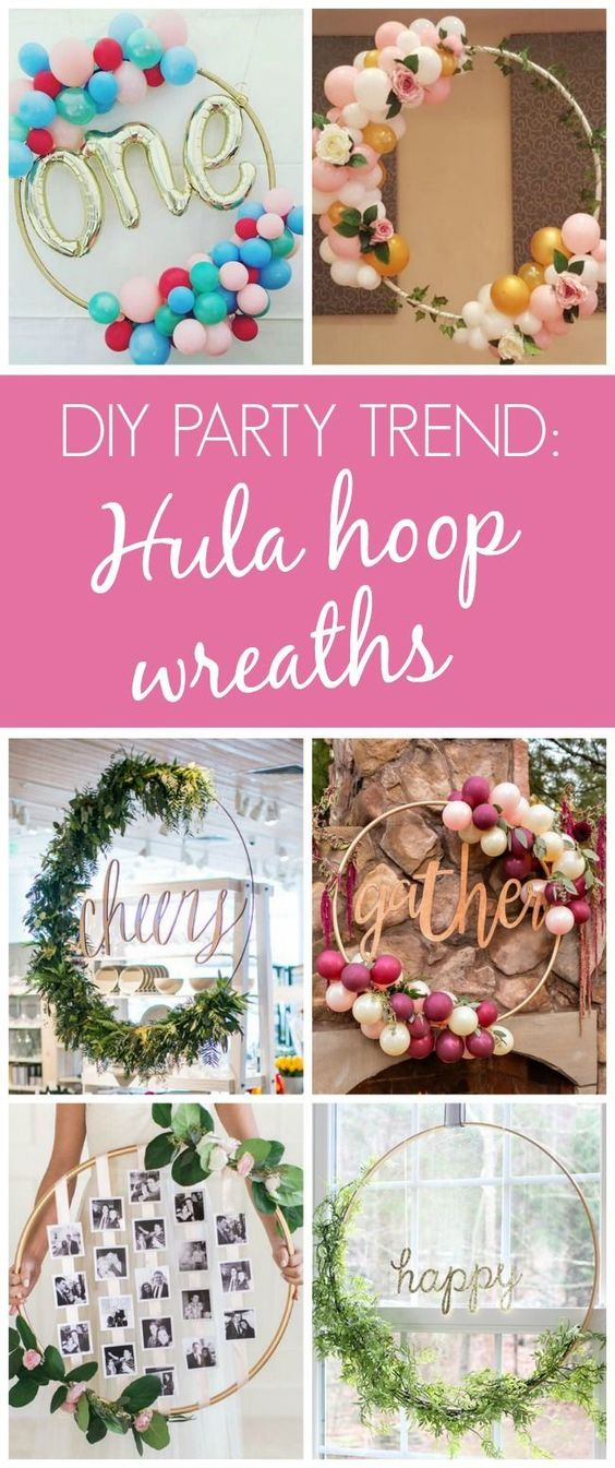 13 Awesome DIY Hula Hoop Wreaths - Pretty My Party