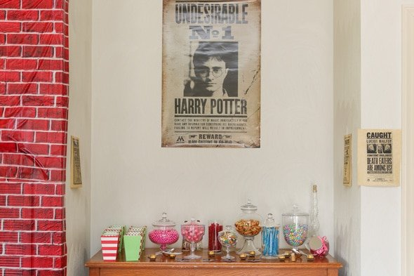 Harry Potter Party Candy Table
