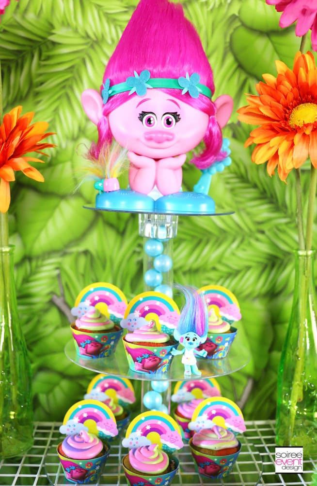 Trolls Cupcake Tower