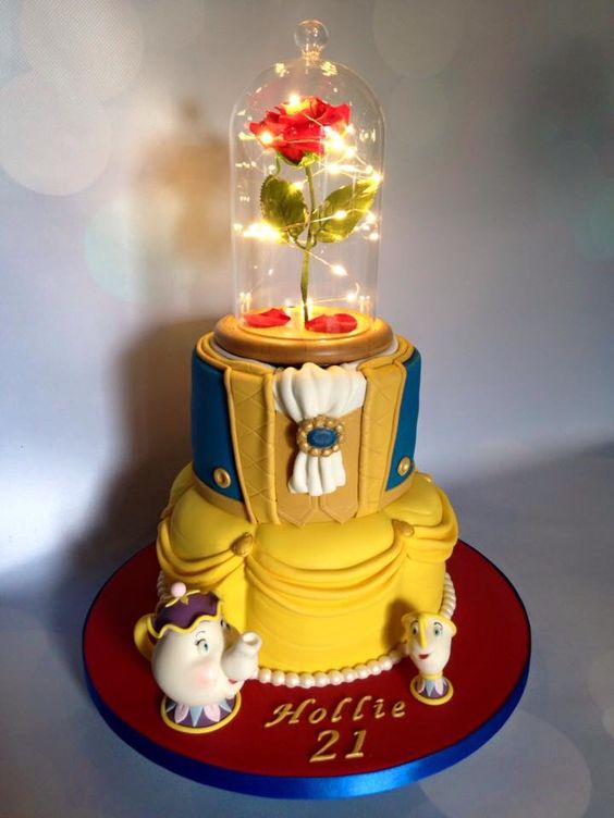 Amazing Beauty and the Beast Birthday Cake