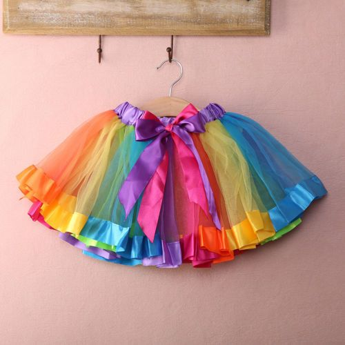 Trolls Birthday Party Rainbow Tutu
