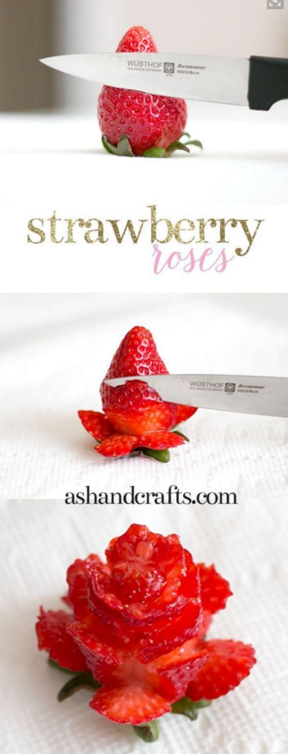 How to make strawberry roses for Beauty and the Beast party