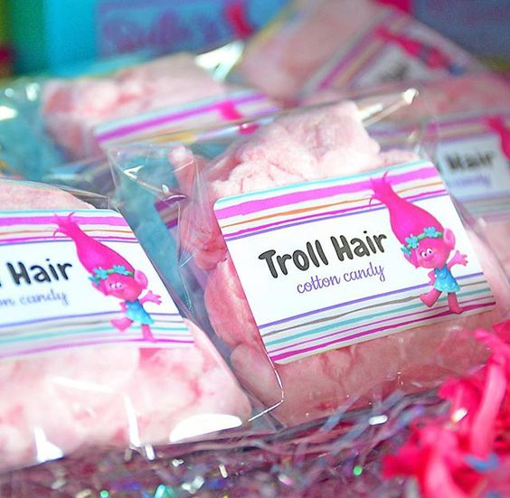 Trolls Hair Cotton Candy Party Favors