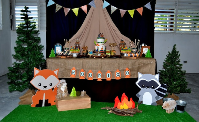 Woodland Camping Birthday Party