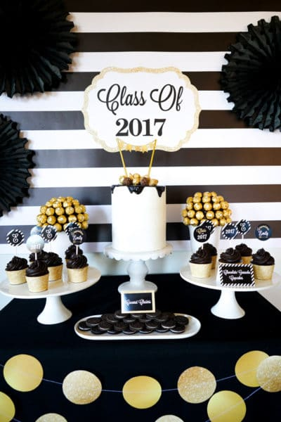 Bold Black and Gold Graduation Party