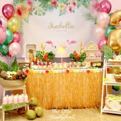 Hawaiian Flamingo Birthday Celebration
